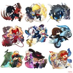 All of the Phantom Thieves Persona 5 Ann, Persona Five, Persona 5 Memes, Persona 5 Joker, 5 Anime, Anime Art, Persona Crossover, Shin Megami Tensei Persona, Akira Kurusu