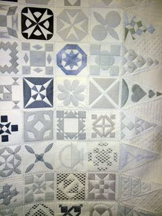 """""""Forty Shades of Gray"""", a Dear Jane quilt, 2013 Australian Quilters Association show.  Posted by Pin Money Quilts"""