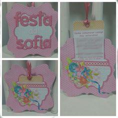 I made this birthday invitation for my niece - I used Flergs digi kit because it is so delicate. -------------------------------------- Fiz este convite pra festa de aniversário da minha sobrinha.