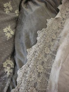 trend: grey and cream textiles, vintage lace