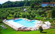Gardameer, kind vriendelijk agrituruismo -zwembad met kinderbad en speeltuintje