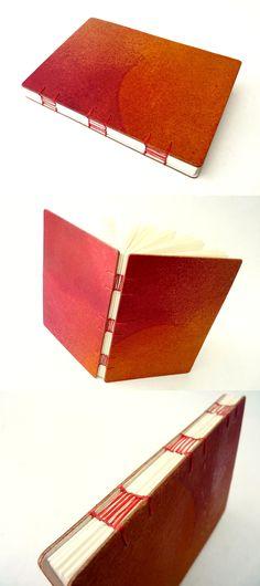 sketchbook, encadernação artesanal, no Canteiro de Alfaces