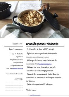 Carton Recette n°85 Four, Recipe Cards, French Toast, Breakfast, Apple, Recipes, Morning Coffee, Morning Breakfast