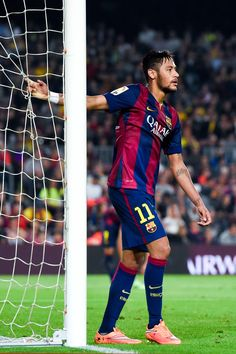 Neymar of FC Barcelona reacts after missing a chance to score during the La Liga match between FC Barcelona and Celta de Vigo at Camp Nou on November 1, 2014 in Barcelona, Catalonia.