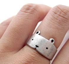 Bear ring. Cute.