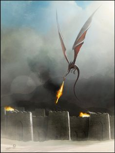 This dragon is gorgeous. Desert Dragon by AndyFairhurst.deviantart.com