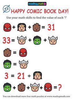 Logic Math, Maths Algebra, Logic Puzzles, Logic Games, Math Class, Math Skills, Math Teacher, Teaching Math, Educational Activities For Kids