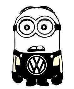 Minion VW Volkswagen Despicable Me Vinyl Car by customsticker Cricut Craft Room, Cricut Vinyl, Vinyl Decals, Cricut Air, Car Decals, Minion Art, Minions 1, Minion Stickers, Funny Stickers