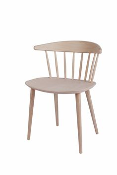 J104 dining chair / designed by Joergen Baekmark in 1966 and is made from beech wood in nature and 4 colours. / DIMENSIONS W 57 x D 47 x H 44,5/73 cm  MATERIALS Solid beech, soap treated or lacquered