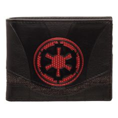 Enter the world of the Gallactic Empire with the Star Wars Empire Wallet. The Star Wars BiFold wallet includes three horizontal card slots, two vertical card slots, a large pocket for cash and an ID pocket with a clear window.