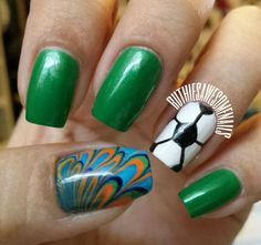 World Cup Soccer Nails!!! #worldcup #soccer #nailart #nails
