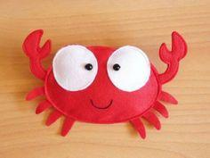 Felt Plushies   Cute crab   Felt plushies