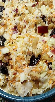 Apple Cabbage Slaw with Dried Cherries and Walnuts
