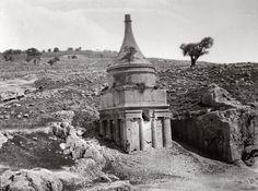 jerusalem, tomb of absalom, palestine, ca. 1880