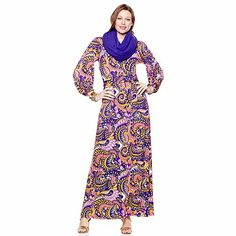 Shop Nikki Poulos Printed or Solid Jersey Maxi Dress with Belt at HSN mobile