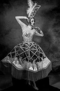 Maria Lola Roche's Poetry of Dissection Collection is Theatrical #costume #editorial trendhunter.com