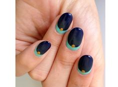 The Fall-Inspired Crescent Moon Mani You Have to Try | Beauty High