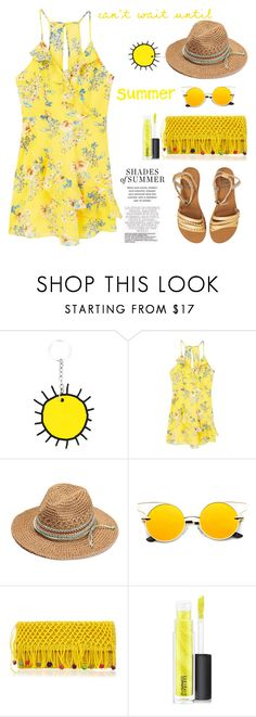 """""""Floral Ruffled Dress"""" by ellie366 ❤ liked on Polyvore featuring Christopher Kane, MANGO, Sensi Studio, MAC Cosmetics, Billabong, dresses, summerstyle, ruffles, minidress and under100"""