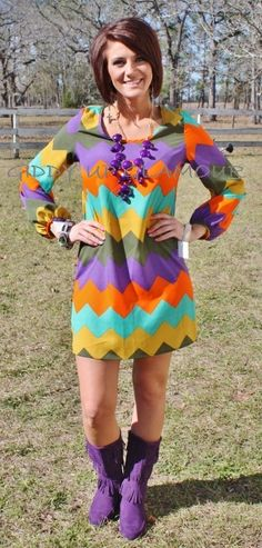 SALE Chevron and On Multi Color Dress FINAL $30.07 www.gugonline.com