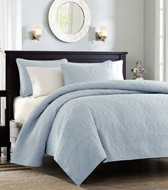 Monterey Light Blue Bedding Quilt Set