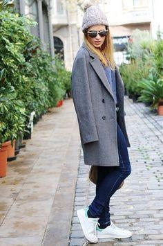 Autumn outfit! @silviaboschblog con nuestra blusa azul :-) www.orelse.es #orelsebarcelona #fw2014 #outfit #sportoutfit