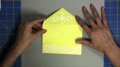Easy DIY Envelope Liners for A2 cards and ideas for decorating envelopes in this video TUTORIAL from Linda Kaiser..... (the liners could be adapted to other sizes as well)