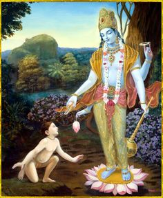 """Dhruva Maharaja said:  """"My dear Lord, You are all-powerful. After entering within me, You have enlivened all my sleeping senses—my hands, legs, ears, touch sensation, life force and especially my power of speech. Let me offer my respectful obeisances unto You."""" ~ Srimad Bhagavatam 4.9.6"""