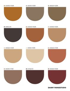 My Monday Morning Inspiration - It is the Danish Dagny Fargestudio to offer us brown, in a wide range of shades, as a color for 201 - Earthy Color Palette, Colour Pallette, Colour Schemes, Color Patterns, Neutral Tones, Colour Trends, Neutral Palette, Color Combinations, Palettes Color