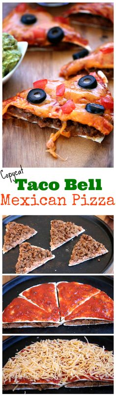 Warm, crisp tortillas filled with refried beans and savory taco meat. All topped with hot, melted cheese and your favorite pizza toppings.