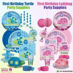 Your lil' baby turning one? Celebrate the grand day with our first birthday turtle or first birthday ladybug party supplies! Shop at: www.mybirthdaysupplies.in/1st-birthday-party-supplies/  #FirstBirthdayParty #FirstBirthdaySupplies #MyBirthdaySupplies