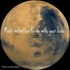 Family Activities to prepare for Curiosity's landing on Mars