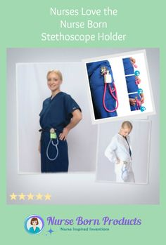 Must have for anyone who carries a stethoscope - Easy to Use - Comfortable - Durable! Get one today at nurseborn.com