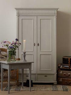 Vintage Armoire, Vintage Room, Vintage Decor, Armoire Makeover, Furniture Makeover, Dream Master Bedroom, Room Inspiration, Painted Furniture, Bedroom Decor