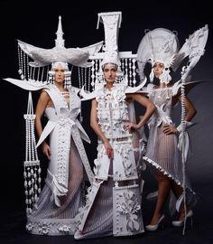Paper fashion by Asya Kozina, photo Anastasia Andreeva, models Liliya Abdurasulova, Olga Komarova, Polina Krasavina