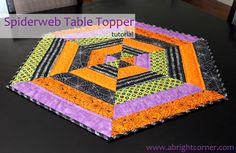 Time for another tutorial to help you get your house ready for Halloween!  This is a delightful Spiderweb Table Topper that is easier to c...
