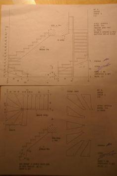 Проект, чертежи лестницы на второй этаж