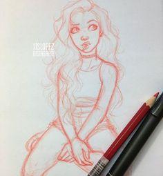Itslopez Cute Drawings Of People, Drawings Of Friends, Drawing People, Easy Drawings, Cartoon Character Pictures, Character Sketches, Character Drawing, Illustration Sketches, Drawing Sketches