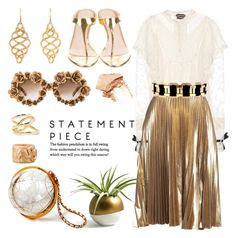 """""""Statement pieces"""" by pensivepeacock ❤ liked on Polyvore featuring NARS Cosmetics, Tom Ford, A.L.C., A-Morir by Kerin Rose, Pomellato, Prada, John Hardy, Balmain and Jennifer Fisher"""