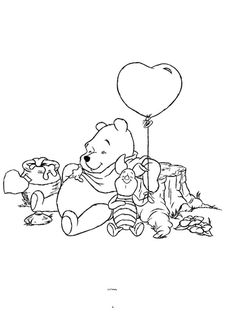 coloring page Winnie the Pooh on Kids-n-Fun. Coloring pages of Winnie the Pooh on Kids-n-Fun. More than coloring pages. At Kids-n-Fun you will always find the nicest coloring pages first! Bear Coloring Pages, Fairy Coloring Pages, Online Coloring Pages, Cool Coloring Pages, Cartoon Coloring Pages, Coloring Books, Winnie The Pooh Drawing, Winne The Pooh, Winnie The Pooh Friends