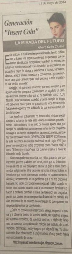 Su columna semanal en el periódico La voz del Tajo