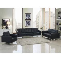 Looking for Modway Leather Florence Style Armchair Loveseat Sofa Black Eileen Gray Side Table ? Check out our picks for the Modway Leather Florence Style Armchair Loveseat Sofa Black Eileen Gray Side Table from the popular stores - all in one. Leather Living Room Set, Upholstered Fabric, Leather Loft, Living Room Sets, Furniture, Sofa Set, Leather Sofa Set, Grey Side Table, Modway Furniture