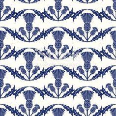Repeating Scottish Thistle Pattern royalty-free repeating scottish thistle pattern stock vector art & more images of backgrounds Scottish Decor, Scottish Thistle, Zentangle, Jugendstil Design, Seamless Background, Motif Floral, Free Vector Art, Repeating Patterns, Botanical Prints