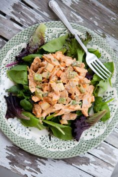 Spicy chicken salad (be sure to use olive oil mayo)