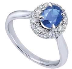 Gabriel & Co Oval Shape Sapphire and Diamond Halo Ring set in 14KT White Gold(1.37ctw) http://www.idjewelry.com/jewelry/rings-bands/gemstone-rings/gabriel-co-oval-shape-sapphire-and-diamond-halo-ring-set-in-14kt-white-gold-1-37ctw-lr50340w45sb-igcd.html#