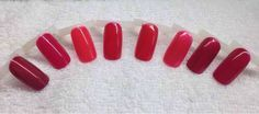 Cnd 'reds' Crimson sash, Rose brocade, Lobster roll, Wildfire, Hollywood, Hot chillis, Red barones, Masquerade
