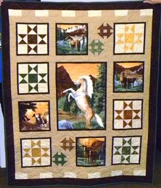 A stunning quilt, made by Jeannie Anastas.