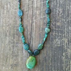 Custom Made Green Turquoise  (real dyed stones) Necklace. Customer satified!!! Beauty too!