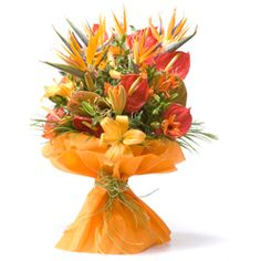 Send Anniversary Gifts To India And USA Thank You Bouquet Festive Xpressions Product