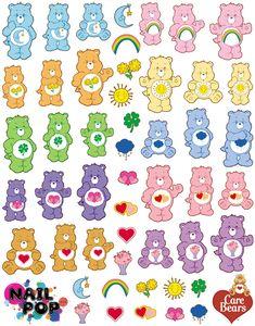 Image of Care Bears X Nail Pop Water Slide Decals Printable Stickers, Cute Stickers, Posca Art, Indie Kids, Aesthetic Stickers, Care Bears, Cute Disney, Disney Wallpaper, Sticker Design