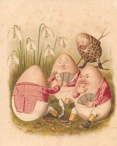 Games for Humpty Dumpty compadres Vintage Cards, Vintage Postcards, King Horse, Spring Images, Humpty Dumpty, Egg Art, Vintage Easter, Illustrations, Alice In Wonderland